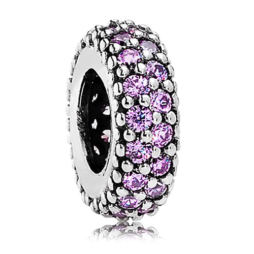 PANDORA Inspiration Within with Fancy Purple CZ Spacer