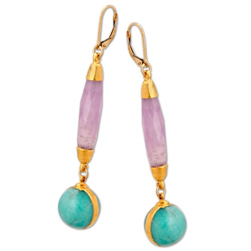 Elisa Ilana Amethyst & Turquoise Earrings