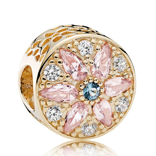 PANDORA Opulent Floral, Multi-Colored Crystals & Clear CZ Charm