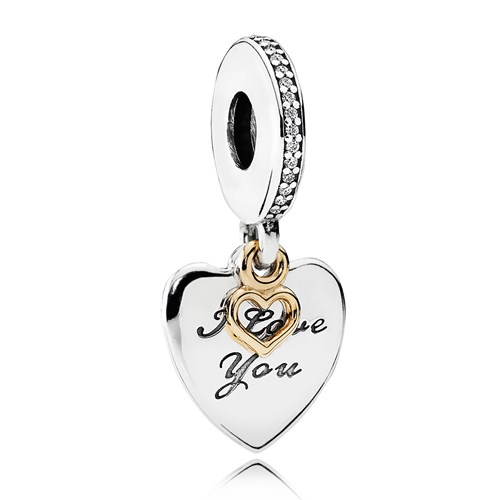 PANDORA Love You Forever, Clear CZ Dangle Charm