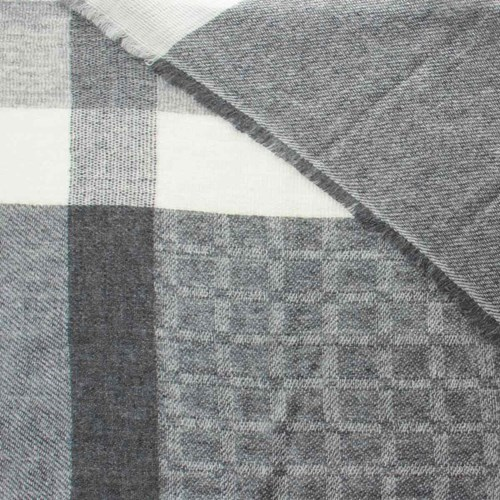 Neutral Pattern Unisex Wool Scarf 10315E