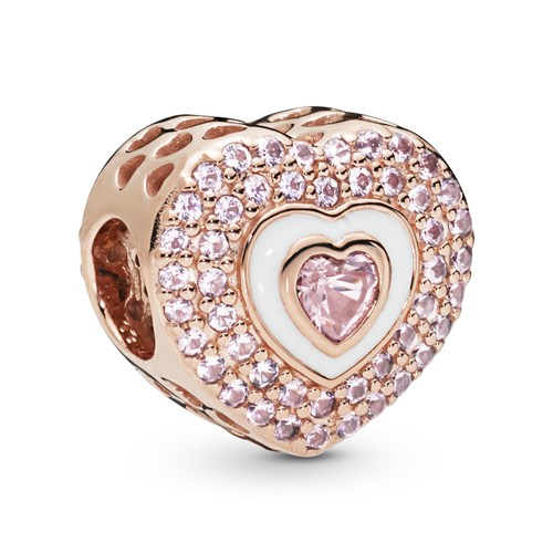 PANDORA Rose™ Hearts On Hearts Charm 788097NPR