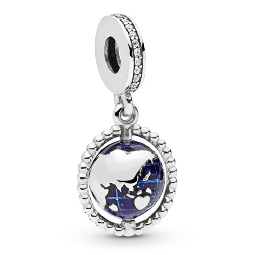 PANDORA Spinning Globe Dangle Charm 798021CZ