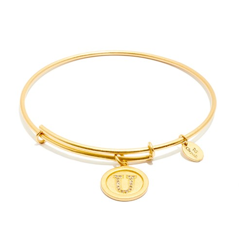 Chrysalis Initial U Gold Bangle
