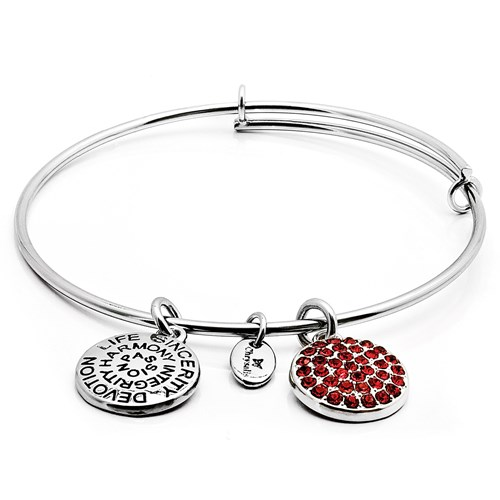 Chrysalis JULY Ruby Crystal Bangle