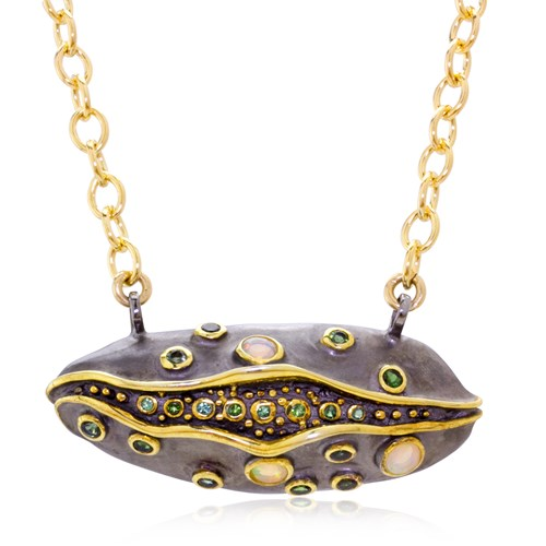 Abstract Pod Necklace 10972N