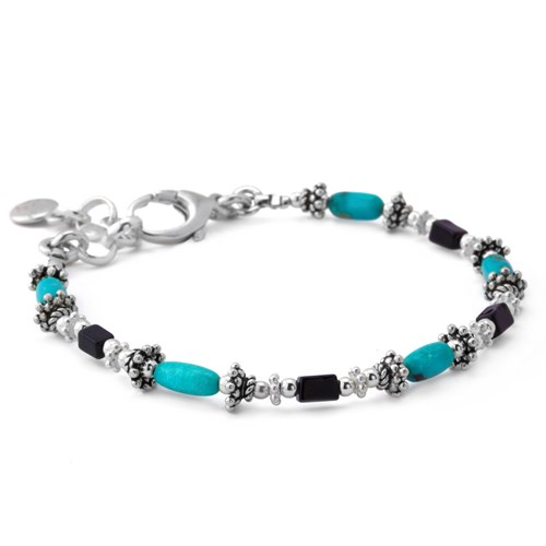 Turquoise with Serpentine Bracelet
