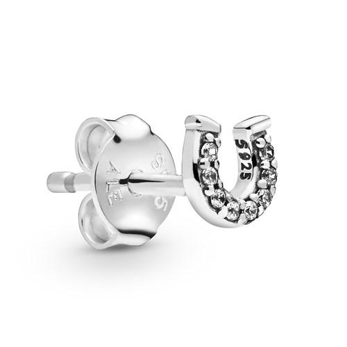 Pandora My Lucky Horseshoe Single Stud Earring 298369CZ