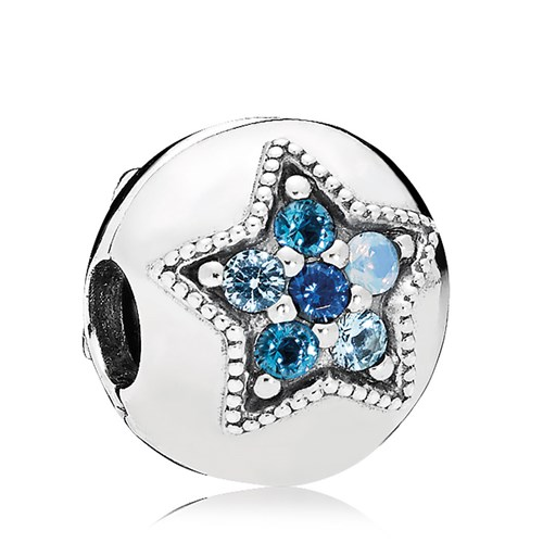 PANDORA Bright Star Multi-Colored Crystals Clip