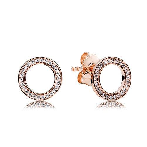 PANDORA Rose™ Forever PANDORA with Clear CZ Earrings