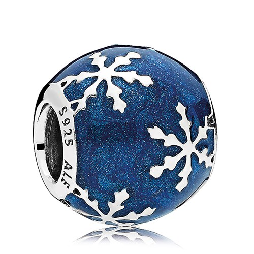PANDORA Wintry Delight Midnight Blue Charm