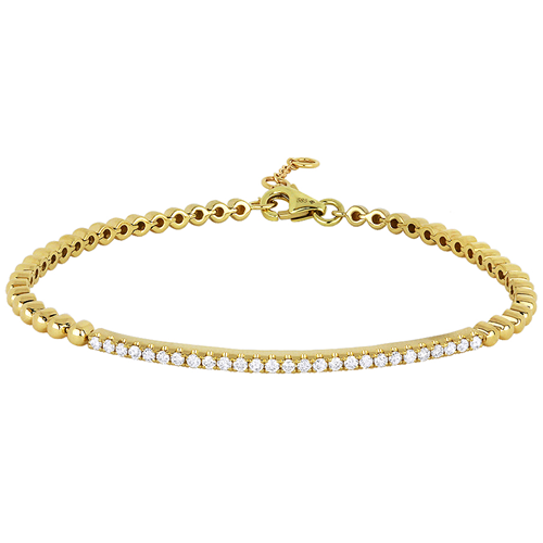 Diamond & 14KY Gold Friendship Bracelet
