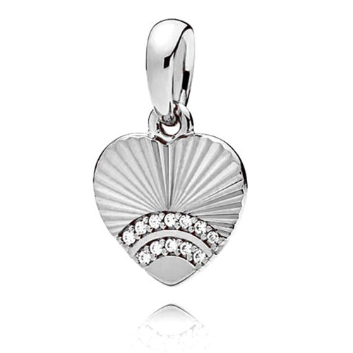PANDORA Fan of Love Pendant 397286CZ