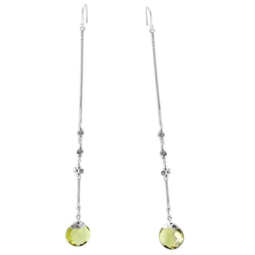 Elisa Ilana Limon Quartz Earrings