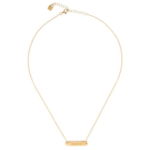 UNOde50 Wish Me Luck Necklace Gold-Plated bar necklace COL1404ORO0000U
