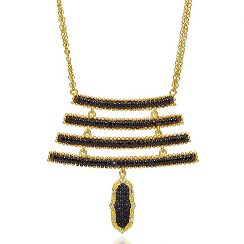 Freida Rothman Black Pointe Bar Pendant Necklace Detail