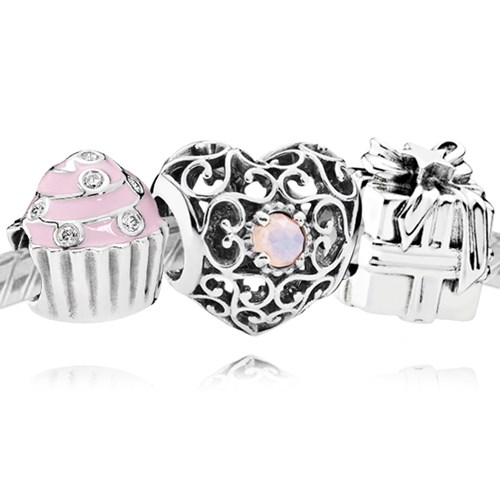 PANDORA Happy October Birthday Charm Set