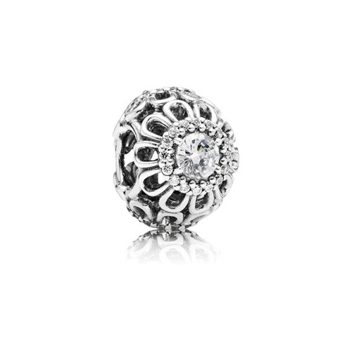 PANDORA Floral Brilliance with Clear CZ Charm