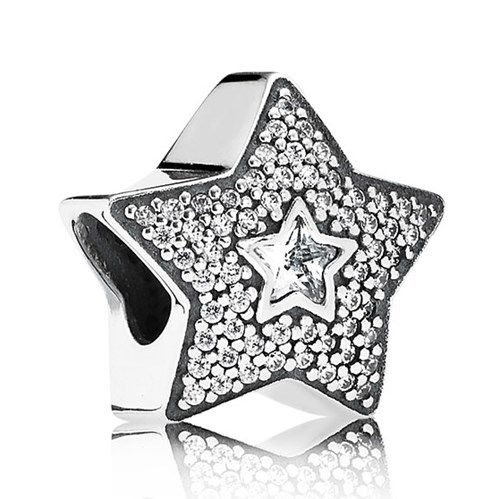 PANDORA Wishing Star with Clear CZ Charm