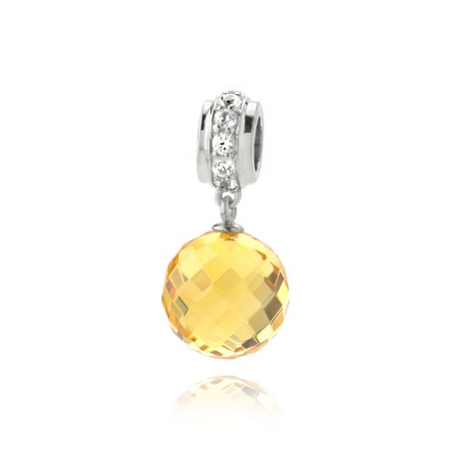 Petra Azar Round Yellow Sapphire Dangle Charm