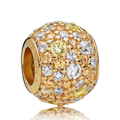 PANDORA Shine™ Golden Mix Pavé Charm