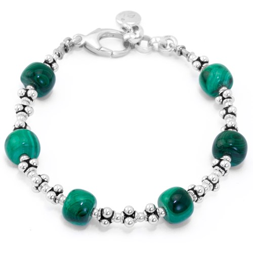 The Goddess Collection Malachite Bracelet by Elisa Ilana