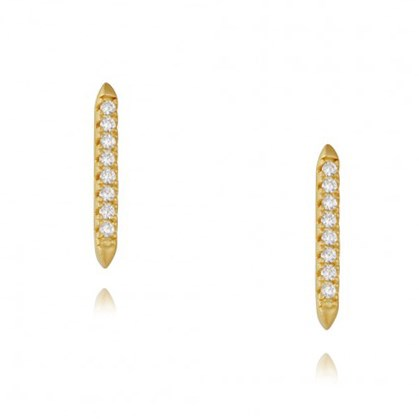 Freida Rothman Pavé Bar Stud Earrings