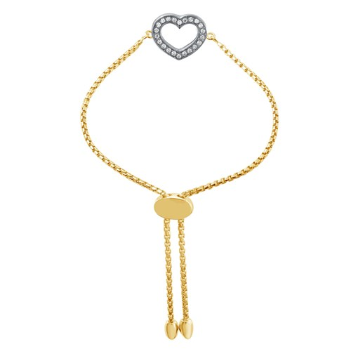 Orion CZ Heart Friendship Bracelet