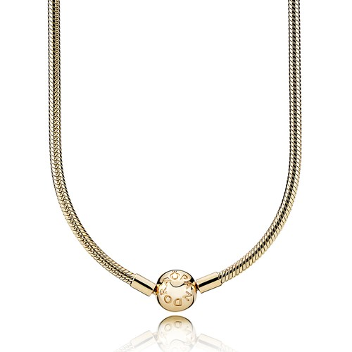 PANDORA 14K Gold Charm Necklace Clasp