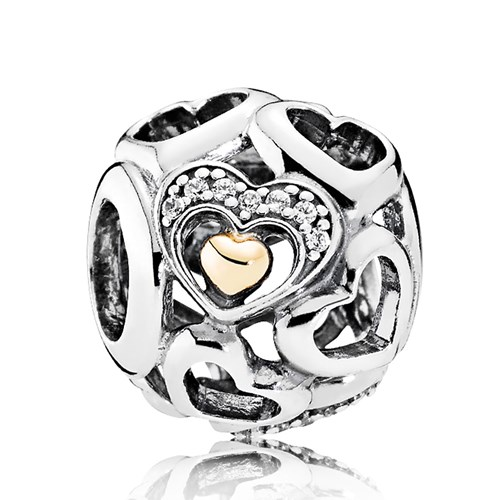 PANDORA Heart of Romance, Clear CZ Charm