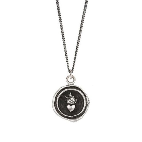 Pyrrha Flaming Heart Necklace N892