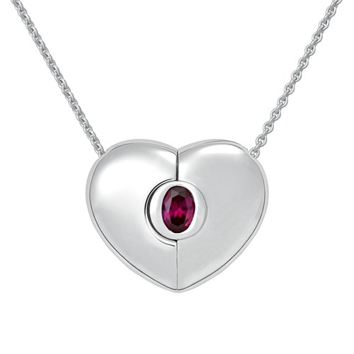 Petra Azar January Heart Necklace