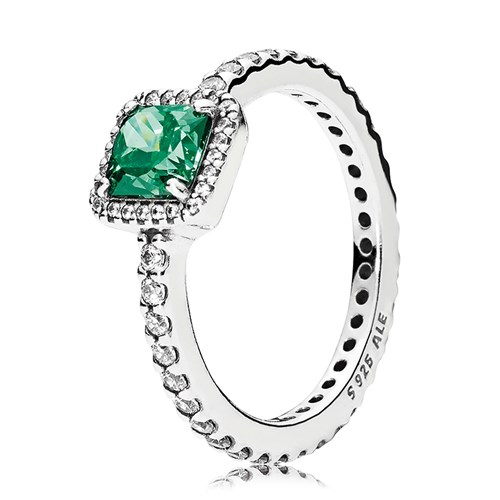 PANDORA Timeless Elegance Green Ring