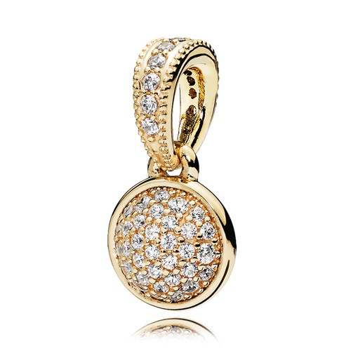 PANDORA Dazzling Droplets 14K Gold & CZ Pendant