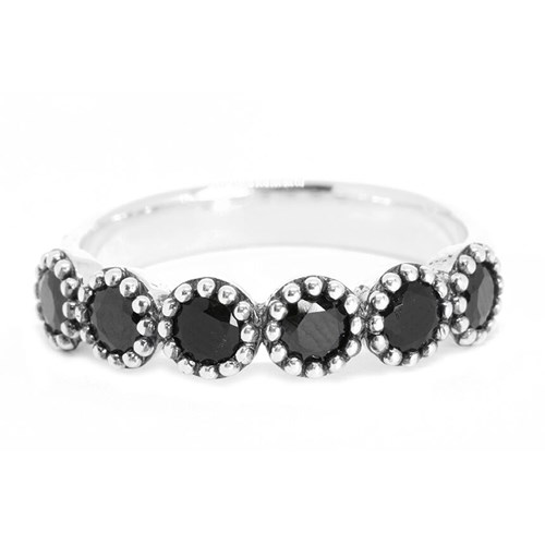 Kir Black Onyx Milgrain Ring R76-BS-7S-NN