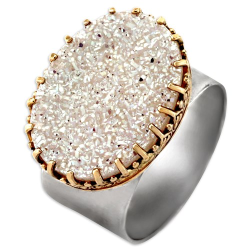 Natural Drusy Ring Elisa Ilana