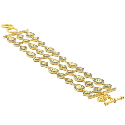 Freida Rothman Lattice Motif Multi Splice Bracelet