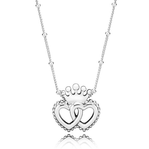 PANDORA United Regal Hearts Necklace 397719-45