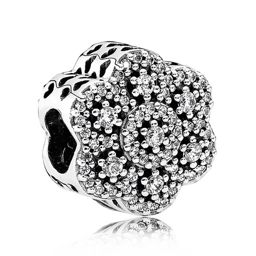 PANDORA Crystalized Floral, Clear CZ Charm