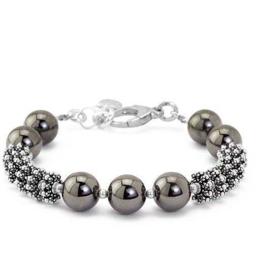 The Goddess Collection Spiked Hematite Bracelet