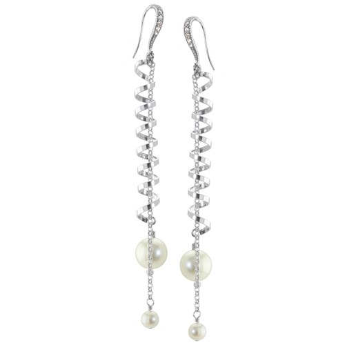 The Goddess Collection Freshwater Pearl Earrings 10741E
