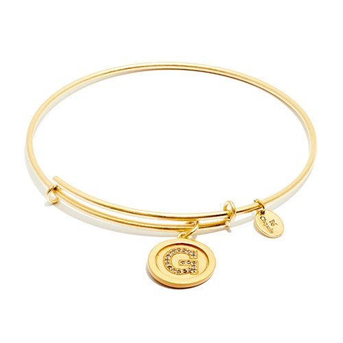 Chrysalis Initial G Gold Bangle