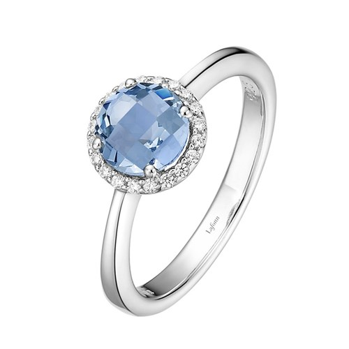 Blue Topaz Birthstone Ring