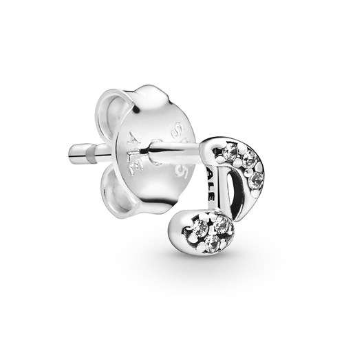 Pandora My Musical Note Single Stud Earring 298366CZ
