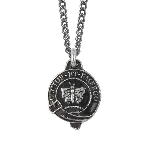 Pyrrha Butterfly Honor Badge Necklace