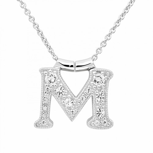 Petra Azar Initial M Necklace