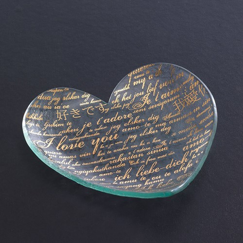Sweet Nothings Heart Plate-Gold