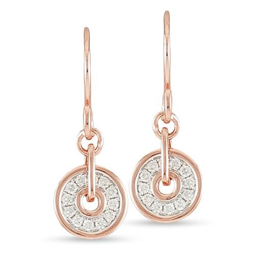 Firenze Spinning Disc Hook Wire Earrings
