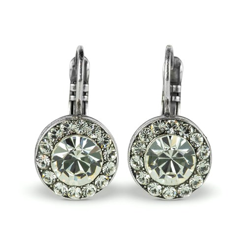 Mariana On a Clear Day Antiqued Silver Drop Earrings E-1129-512-SP6