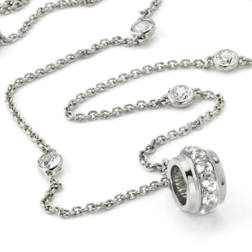 Petra Azar White Sapphire Chain with Ring Close Up